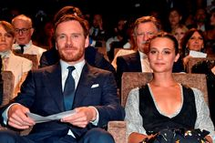 Actors Michael Fassbender and Alicia Vikander attend the premiere of 'The Light Between Oceans' during the 73rd Venice Film Festival at Sala Grande