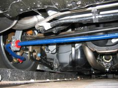 A view of the Shelby GT rear suspension. A rear axle ratio is also standard. Ford Mustang Shelby Gt, Automobile, Car, Autos, Cars