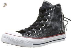 Converse Womens Chuck Taylor All Star Triple Zip Hi Sneaker (5.5 B(M) US, Black) - Converse chucks for women (*Amazon Partner-Link)