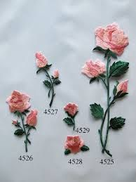 Image result for how to make embroidered roses