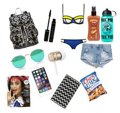 """beach essentials"" by teenstylebyjenna on Polyvore"