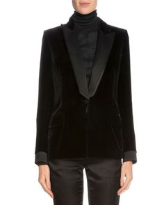 TOM FORD One-Button Tuxedo Jacket, Black. #tomford #cloth #