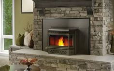 Fireplace Inserts are a great way to update an existing masonry fireplace.