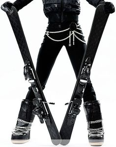 All Chanel would be over the top for me personally but I like the ski boots and the skis!