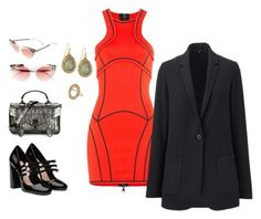 """""""208-3 The Legend Of"""" by afashionpage ❤ liked on Polyvore featuring Miu Miu, Dsquared2, Proenza Schouler, Fendi, Panacea, Uniqlo, hottrend, PersonalStyling, mycloset and closetfullofoutfits"""