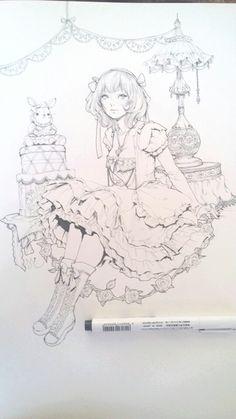 Large Original Ink Drawing