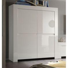 Buffet blanc laqué design BETTY | Units | Pinterest | Buffet and ...