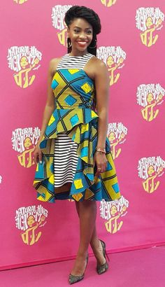 Actress Teyonah Parris at the Natural Hair Academy 2016 conference in Paris.