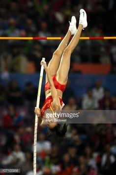 Ling Li of China competes in the Women's Pole Vault Final at Aoti Main Stadium during day twelve of the 16th Asian Games Guangzhou 2010 on November 24, 2010 in Guangzhou, China.