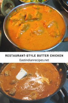 Restaurant-Style Butter Indian butter chicken is absolute comfort food. Rich, creamy, tomato-based gravy simmered with big morsels of marinated chicken. White Rice Recipes, Rice Recipes For Dinner, Unique Recipes, Indian Food Recipes, Ethnic Recipes, Longest Recipe, Tomato Gravy, Fried Bananas, Indian Butter Chicken