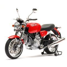 F/S AUTOart DUCATI GT1000 RED 12546 1/12 Scale Diecast Motorcycle Model #AUTOart #DUCATI