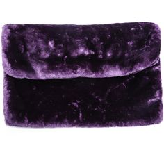 Purple Faux Fur Clutch Bag ❤ liked on Polyvore featuring bags, handbags, clutches, faux fur handbags, purple purse, purple clutches, purple handbags and faux fur purse