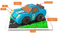 How to make a racecar cake!