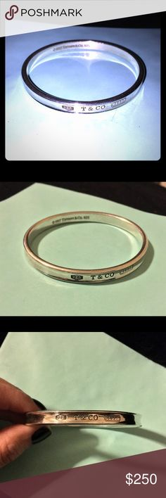 "Tiffany & Co "" 1837"" Bangle  100% authentic, purchased at Tiffany & Co. a few years ago - used but in excellent condition - signature bangle from the ""1837"" collection - measures 2.5"" ❤️ Tiffany & Co. Jewelry Bracelets"