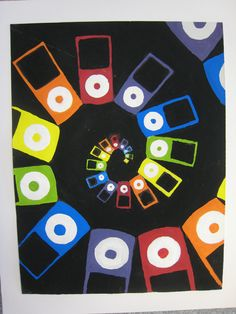 We did a temera painting based on music....Ipods were the popular subject matter.