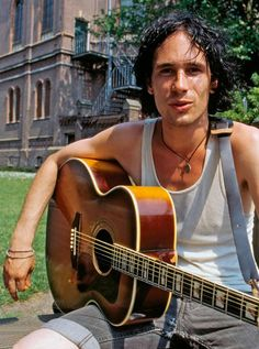 Jeff Buckley photographed by Hans van den Bogaard at the back of the pop-temple Paradiso, Amsterdam, July 10, 1995.