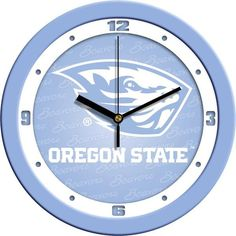 New - Oregon State Beavers-Baby Blue Wall Clock
