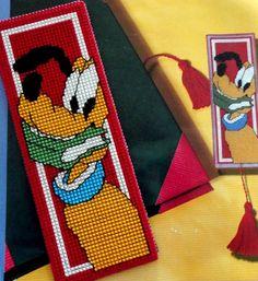 Plastic Canvas Bookmark Patterns   CROSS-STITCH PATTERNS / Bookmark Pluto embroidered on plastic canvas.