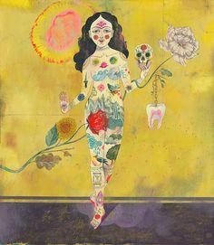 'Symbols humankind' by German artist & illustrator Olaf Hajek Acrylic on cardboard, 43 x 49 cm. via direktoren haus Art And Illustration, Alphonse Mucha, Olaf, Book Posters, Pablo Picasso, Art Design, Oeuvre D'art, Amazing Art, Illustrators