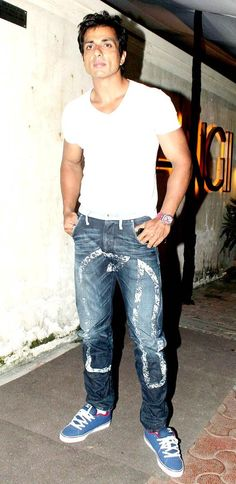 Sonu Sood at the 'R. Bollywood Actors, Bollywood Fashion, R Rajkumar, Sonu Sood, Man Crush, My Man, Actors & Actresses, Crushes, Handsome