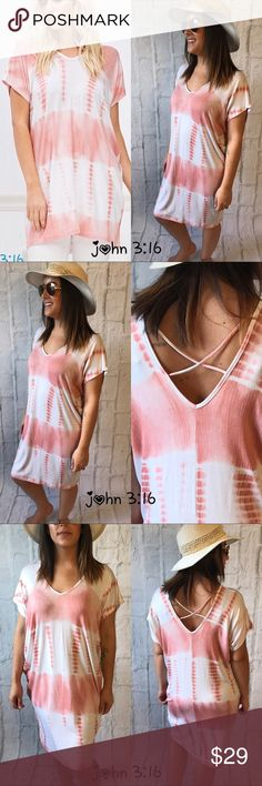 Tie dye summer tunics/coverups Tie dye tunic, top or beach coverup in 2 colors - great addition for vacation, hanging out or trip to the beach😎 95% rayon 5% spandex - price is firm✔️ Boutique Tops Tunics