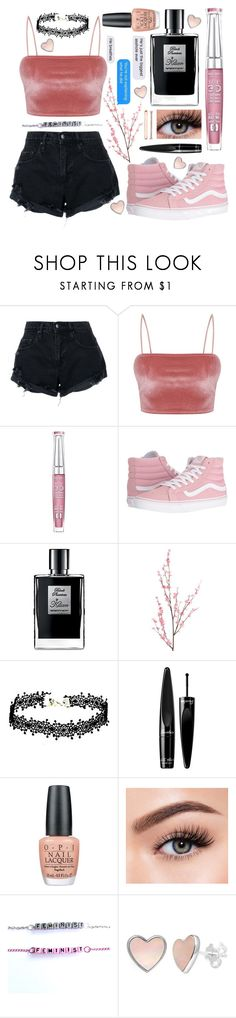 """""""Pastel pink"""" by fash-n-chips ❤ liked on Polyvore featuring Nobody Denim, Bourjois, Vans, Pier 1 Imports, Guerlain, OPI, Morphe and Anne Klein"""