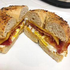 Breakfast bagel sandwich goals by @ketoalessa . With 2 net carbs per bagel, whats in your bagel?