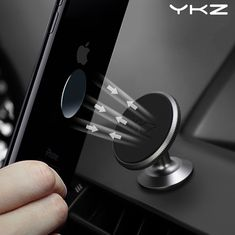 Magnetic Car Phone Holder Solid Dashboard High Quality Strong BASEUS Set SILVER