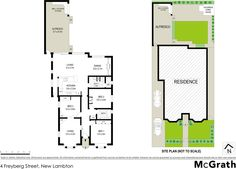 4 Freyberg Street, New Lambton, NSW 2305 - floorplan Love the side entry beside the kitchen