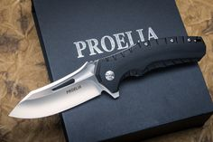 Proelia Knives Tactical Folders (Drop or Tanto) | 400+ Sold | Exclusive Price and Reviews | https://www.massdrop.com/buy/proelia-knives-tactical-folder | Discover more Locking Knives  on @massdrop | A tactical flipper with a D2 steel blade, the American-assembled Proelia Tactical Folder puts build quality above all else...