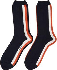 Sacai - Navy Striped Socks