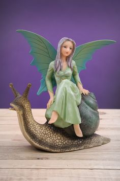 Natasha Faulkner Fairy on a Slug #fantasy #fairy #decoration #homedecor #giftware