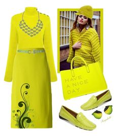 """""""Chartreuse"""" by ragnh-mjos ❤ liked on Polyvore featuring RED Valentino, Marni, 1928, Anya Hindmarch, Robert Zur, MICHAEL Michael Kors and Spitfire"""