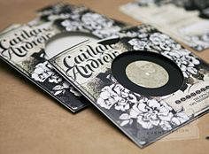 Oh So Beautiful Paper: Caitlan + Andrewu0027s Black Heavy Metal Wedding  Invitations