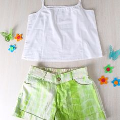 This cute and fresh Tie n Dye Shorts in Handloom Cotton are light and lovely. Your little one will hop around in happiness!  #kids #clothing