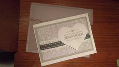 Passende Karte zur Schachtel Stempel Stampin up heat embossed in grey