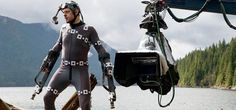 Andy Serkis on the set of Dawn of the Planet of the Apes