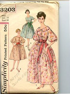Vintage 1950s Dress Simplicity 3203 Pattern by VioletCrownEmporium, $12.00