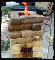 I want a rocket stove. How to Build a Rocket Stove: 6 Plans Build A Rocket, Ideias Diy, Rocket Stoves, Outdoor Living, Outdoor Decor, Off The Grid, Camping Survival, Outdoor Cooking, Outdoor Projects