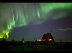 Aurora @ the cabin by Gunnar Gestur Geirmundsson, via 500px
