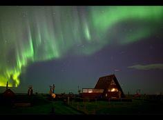 Aurora @ the cabin by Gunnar Gestur Geirmundsson, via 500px