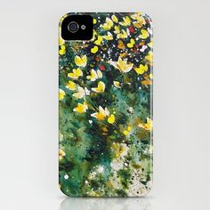 field of wildflowers iPhone Case by Denise Comeau - $35.00
