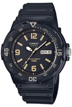 2b2cff53ba3a Casio Men s MRW300H-1B3VCF Analog Digital Watch - Black Gold Ceasuri Sport