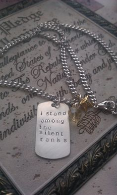 I stand among the silent ranks. Military Girlfriend. Etsy. $20.00