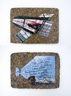 "Saatchi Art Artist Maia S Oprea; Collage, ""REALITY TABLET #4"" #art"