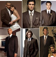 Wedding, Brown, Tux - Tux inspiration ideas-brown tux with royal blue lapels & royal blue tie or lavender tie Brown Groomsmen, Groomsmen Suits, Wedding Tux, Dream Wedding, Wedding Dresses, Fall Wedding, Wedding Cake, Beige Wedding, Church Wedding