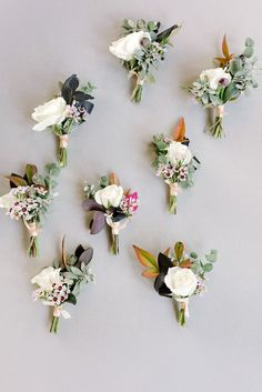 20 inspirational floral boutonnieres for the groom - Parfum Flower Company Rustic Boutonniere, Groomsmen Boutonniere, Boutonnieres, Winter Boutonniere, Wedding Boutonniere, Burgundy Wedding, Floral Wedding, Rustic Wedding, Wedding Ideas