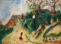 """Chaïm Soutine (1893 - 1943), """"Paysage avec personnage"""", huile sur toile, vers 1918-1919, Coll. Jean Walter et Paul Guillaume, Musée de l'Orangerie, Paris"""