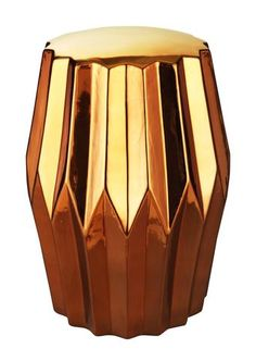 Column Stool Gold Stoneware | Modern Stool by Moes Home Collection at Contemporary Modern Furniture  Warehouse