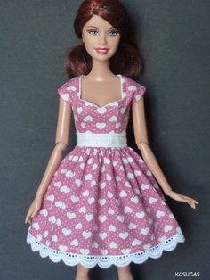 Dress for Barbie and Poppy Parker dolls. by Kosucas on Etsy
